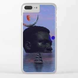 Neptune by the sunset. Clear iPhone Case