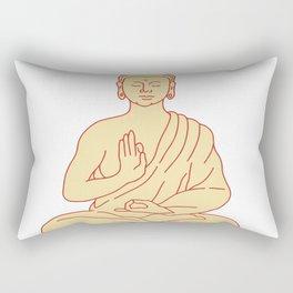 Gautama Buddha Sitting Lotus Position Drawing Rectangular Pillow