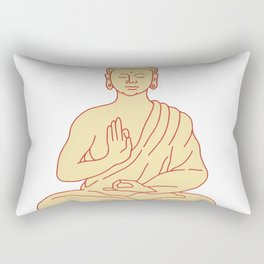 Gautama Buddha Sitting Lotus Position Drawing Rectangular Pillow