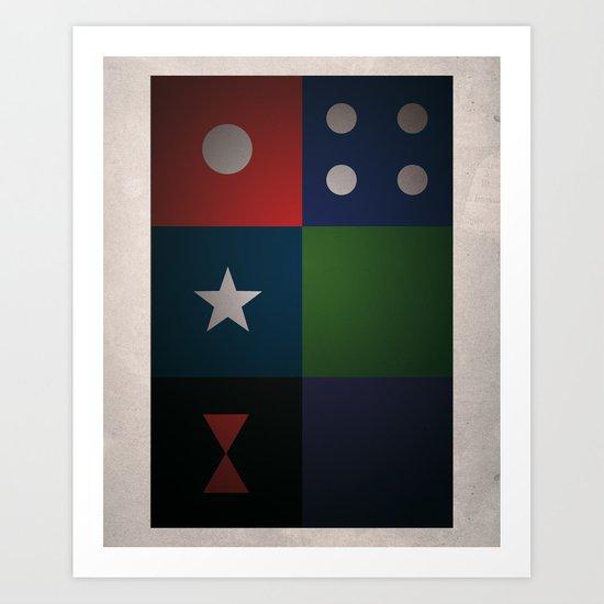 SMOOTH MINIMALISM - Avengers Art Print
