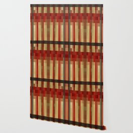 World of Stripes-red/yellow Wallpaper