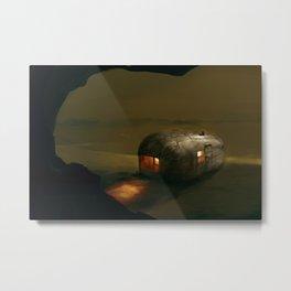 Post Apocalyptic Airstream (Camo) Version 2 Metal Print