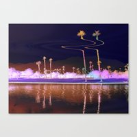 coachella Canvas Prints featuring coachella distortion by Monica Ortel ❖