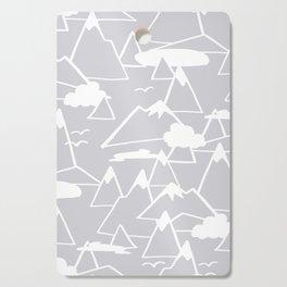 Mountain Scene in Grey Cutting Board