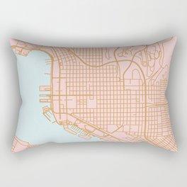 San Diego map Rectangular Pillow