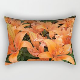 Orange Lillies Rectangular Pillow