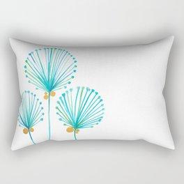 Golden Coconut Tree Rectangular Pillow