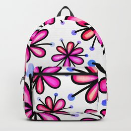 Doodle Daisy Flower v01 Backpack