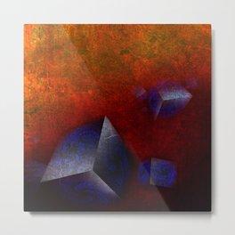 Chaotic Cubes Metal Print