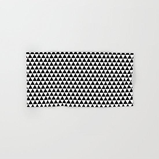Triangles (Black/White) Hand & Bath Towel