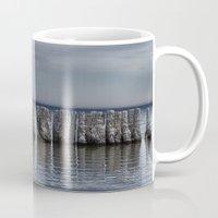 salt water Mugs featuring Pillars of Salt by Curtis Carder