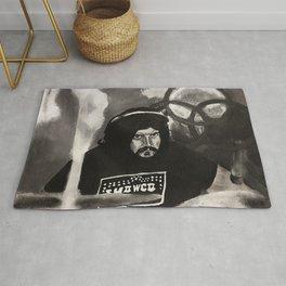 John Bonham,led zeppelin,musician,drummer,sound,black and white,painting,rock and roll, music,album, Rug