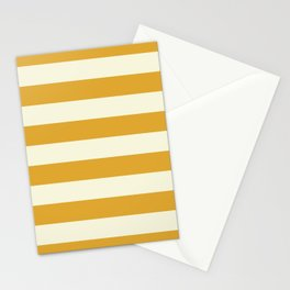 Yellow Mustard Stripe Line Bold Stripes Lines Stationery Cards