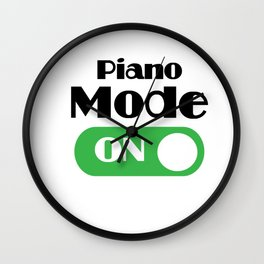 Piano Player Funny Gift - Piano Keyboard Keys Wall Clock