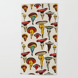 Sexy mushrooms Beach Towel