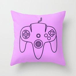 Nintendo 64 Controller - Retro Style! Throw Pillow