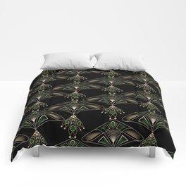 """Art Deco """"Emeralds """" Comforters"""