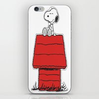 snoopy iPhone & iPod Skins featuring Snoopy by Simple Touch Apparel