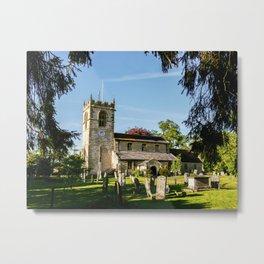 St Michael, Cropthorne Metal Print