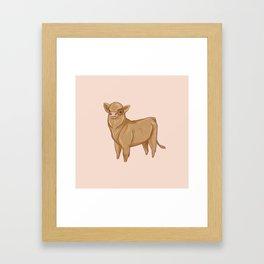 Baby Cow Framed Art Print