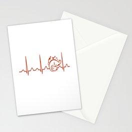Paleontologist Heartbeat Stationery Cards