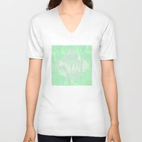 plant V-neck T-shirts featuring Plant by Mr and Mrs Quirynen