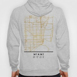 MIAMI FLORIDA CITY STREET MAP ART Hoody