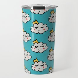 April showers king cloud Teal #nursery Travel Mug