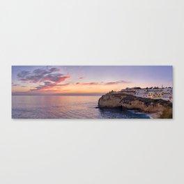 Carvoeiro at dusk in winter Canvas Print
