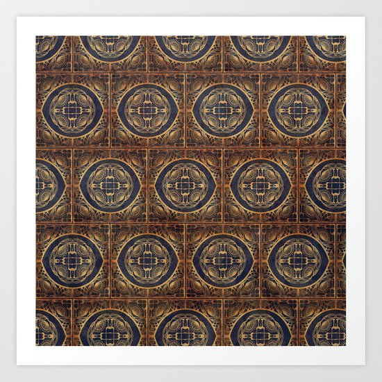 Grecian Bath House Tiles  Art Print