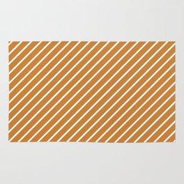 Diagonal Lines (White/Bronze) Rug
