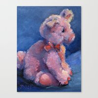 piglet Canvas Prints featuring Small Piglet by Joose Hadley