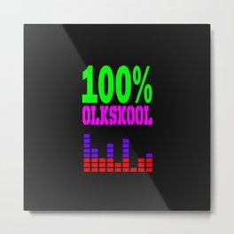 100% oldskool music logo Metal Print