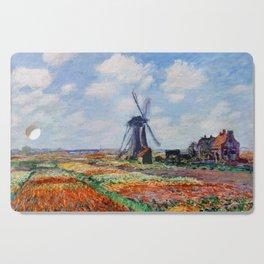 Claude Monet Tulip Field In Holland Cutting Board