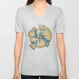 Beneath the Ripples of Existence (There's a Journey Called Life) Unisex V-Neck