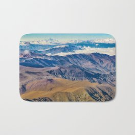 Andes Mountains Aerial View, Chile Bath Mat