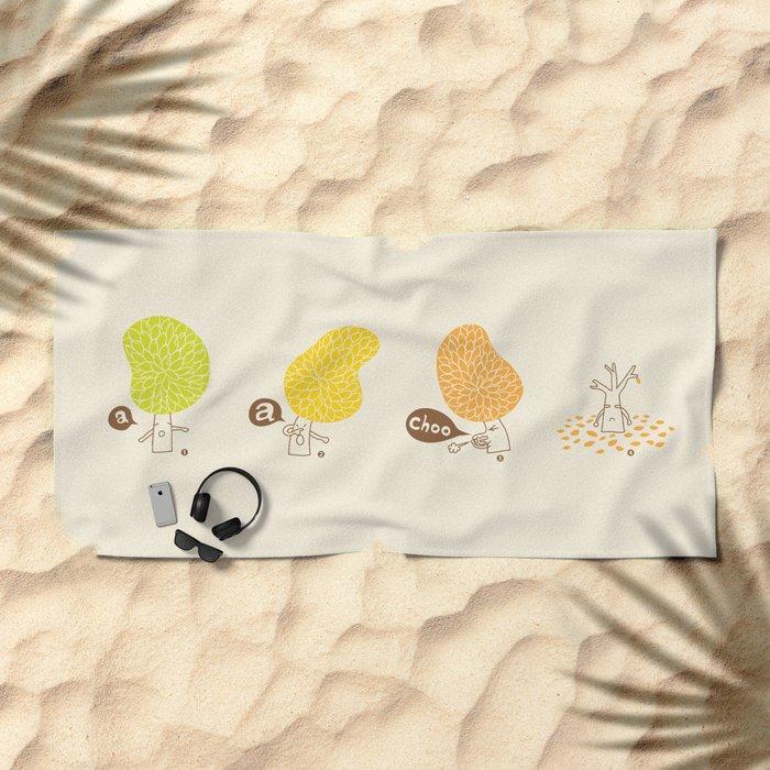 Season sneeze Beach Towel