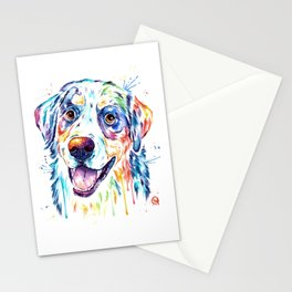 Bernese Mountain Dog Watercolor Painting Stationery Cards