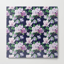 Magnolia Floral Frenzy Metal Print