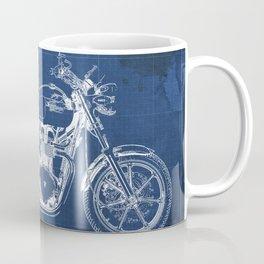 2010 Triumph Bonneville SE, motorcycle blueprint, husbands gift, offer, original poster, fathers day Coffee Mug