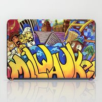milwaukee iPad Cases featuring MILWAUKEE: heartMilwaukee by Amanda Iglinski