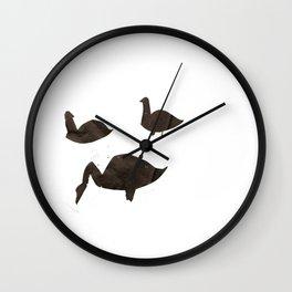 Swan Print I Wall Clock
