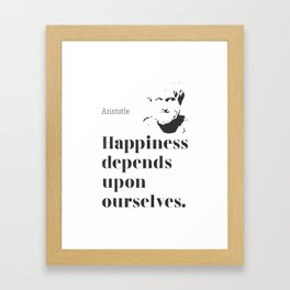 Arisotle quote Framed Art Print