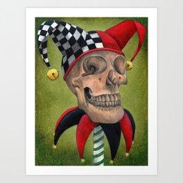 Yorick's Skull Art Print