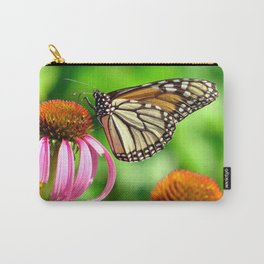 Spotted Butterfly on Cone Flower Carry-All Pouch