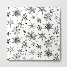 Snow Flakes Metal Print
