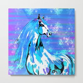 RIDE THE BLUE HORSE Metal Print