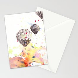 Hot Air Balloons Painting Stationery Cards