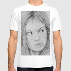 Angelina Jolie - Girl interrupted Mens Fitted Tee White MEDIUM