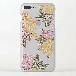 RAINBOW HENNA Clear iPhone Case